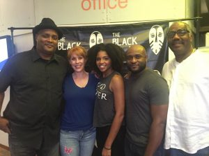 Playwright Mark Clayton Southers and Miss Julie's St. Louis cast, with Ron Himes, founder of St. Louis Black Rep