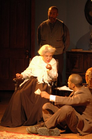 Chrystal Bates as Aunt Ester, Jonathan Berry as Citizen Barlow, Kevin Brown as Eli