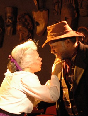 Chrystal Bates as Aunt Ester and Alan Bomar Jones as Solly