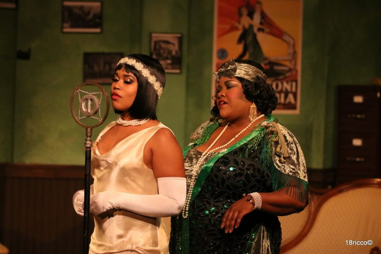 Shakirah Stephens as Dussie Mae and Vanessa German as Ma Rainey. Photo by Ricco Martello.
