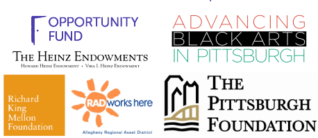 Opportunity Fund, Heinz Endowments, Advancing Black Arts, Pittsburgh Foundation, RK Mellon, RAD logos